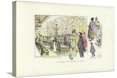 An Artist's Wanderings, in Paris-Phil May-Stretched Canvas Print
