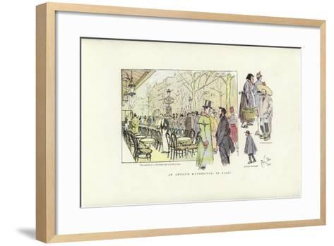 An Artist's Wanderings, in Paris-Phil May-Framed Art Print
