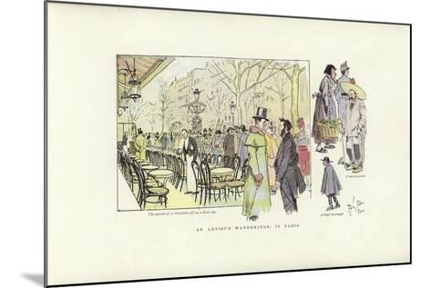 An Artist's Wanderings, in Paris-Phil May-Mounted Giclee Print