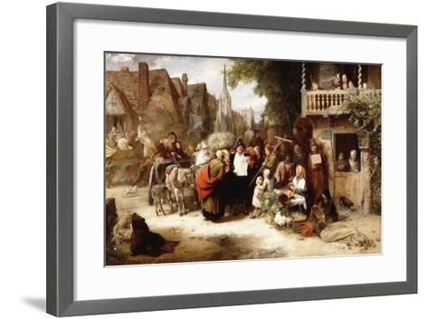 Market Day, the Arrival of the Hippodrome-George Bernard O'neill-Framed Art Print