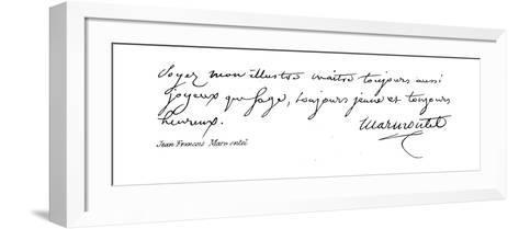 Jean Francois Marmontel--Framed Art Print