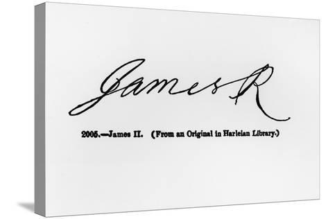Reproduction of the Signature of James II--Stretched Canvas Print