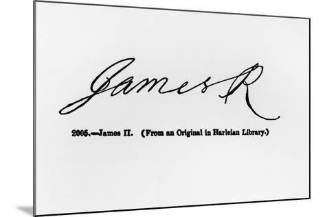 Reproduction of the Signature of James II--Mounted Giclee Print