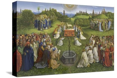Adoration of the Mystic Lamb-Hubert & Jan Van Eyck-Stretched Canvas Print