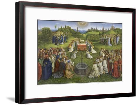 Adoration of the Mystic Lamb-Hubert & Jan Van Eyck-Framed Art Print