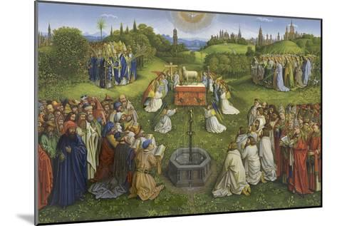Adoration of the Mystic Lamb-Hubert & Jan Van Eyck-Mounted Giclee Print