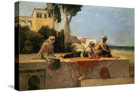 On the Terrace-Jean Joseph Benjamin Constant-Stretched Canvas Print