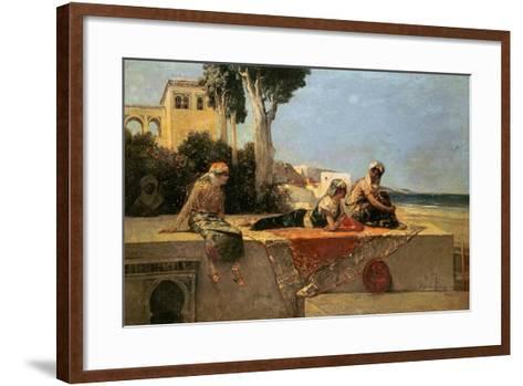 On the Terrace-Jean Joseph Benjamin Constant-Framed Art Print