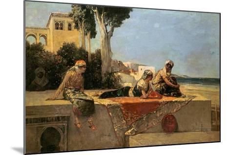 On the Terrace-Jean Joseph Benjamin Constant-Mounted Giclee Print