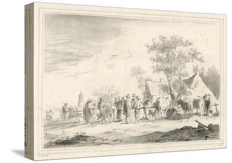 Cattle Market-Jan Van Goyen-Stretched Canvas Print
