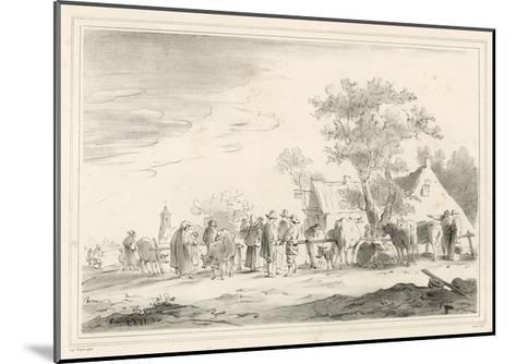 Cattle Market-Jan Van Goyen-Mounted Giclee Print
