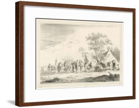Cattle Market-Jan Van Goyen-Framed Art Print