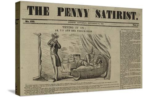 Cover of the Penny Satirist--Stretched Canvas Print