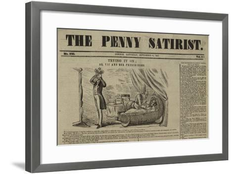 Cover of the Penny Satirist--Framed Art Print