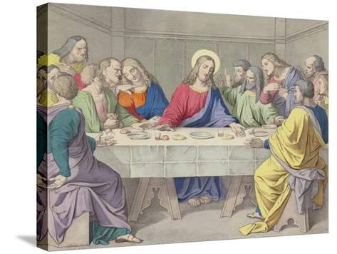 Jesus Institutes the Holy Eucharist--Stretched Canvas Print