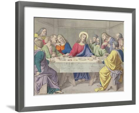 Jesus Institutes the Holy Eucharist--Framed Art Print