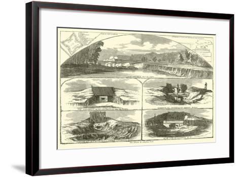 The Attack on Arkansas Post, January 1863--Framed Art Print