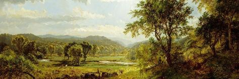 The Saw Mill River-Jasper Francis Cropsey-Stretched Canvas Print