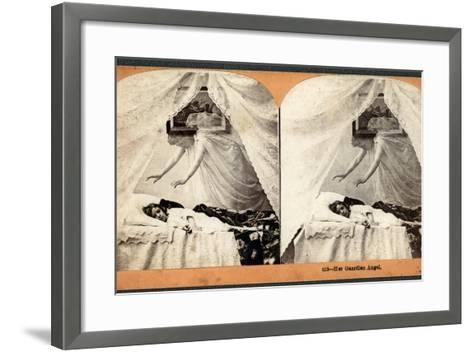 """Her Guardian Angel""--Framed Art Print"