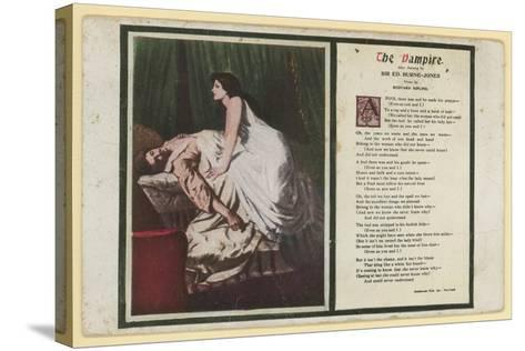 The Vampire by Rudyard Kipling-Edward Burne-Jones-Stretched Canvas Print