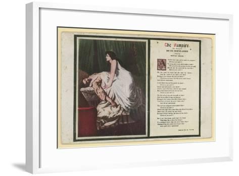 The Vampire by Rudyard Kipling-Edward Burne-Jones-Framed Art Print