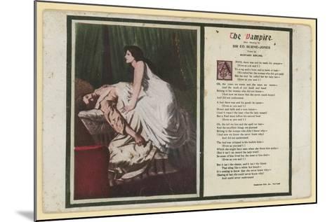 The Vampire by Rudyard Kipling-Edward Burne-Jones-Mounted Giclee Print