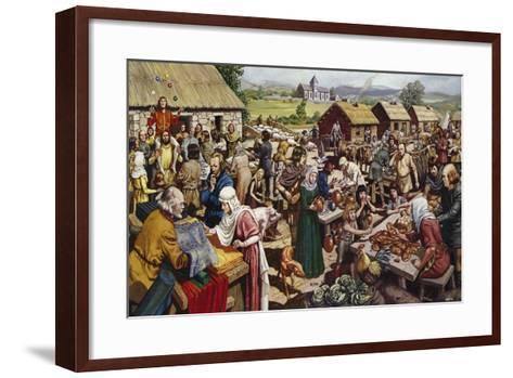 Saxon Village Fair-Mike White-Framed Art Print