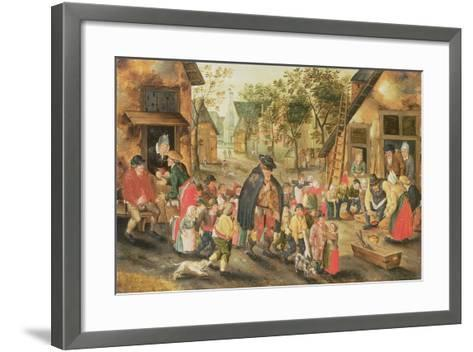 The Blind Hurdy-Gurdy Player-Pieter Brueghel the Younger-Framed Art Print