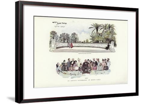 An Artist's Wanderings, at Monte Carlo-Phil May-Framed Art Print