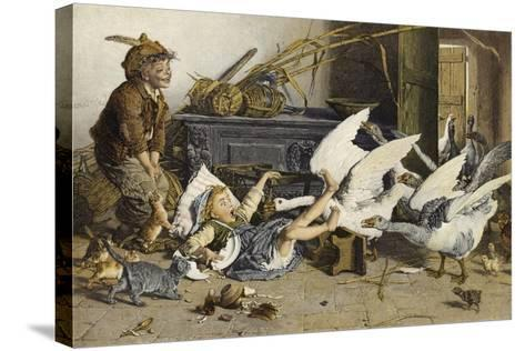 Uninvited Guests-Gaetano Chierici-Stretched Canvas Print