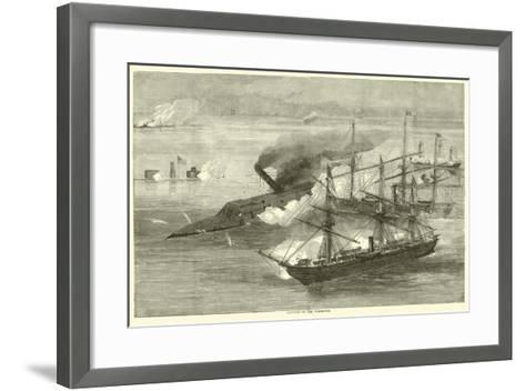 Capture of the Tennessee, August 1864--Framed Art Print