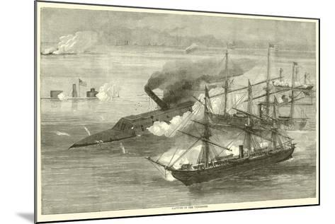 Capture of the Tennessee, August 1864--Mounted Giclee Print