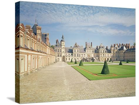 White Horse Courtyard, Palace of Fontainebleau--Stretched Canvas Print