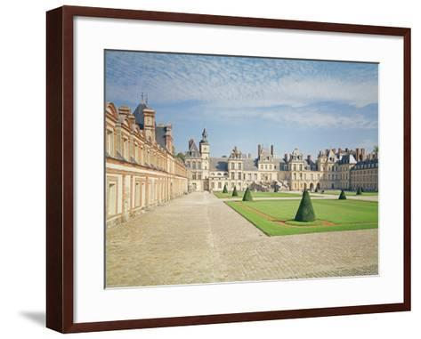 White Horse Courtyard, Palace of Fontainebleau--Framed Art Print