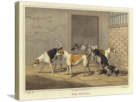 Fox Hounds-Henry Thomas Alken-Stretched Canvas Print