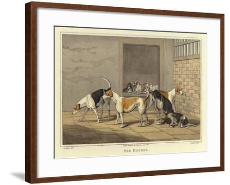 Fox Hounds-Henry Thomas Alken-Framed Art Print
