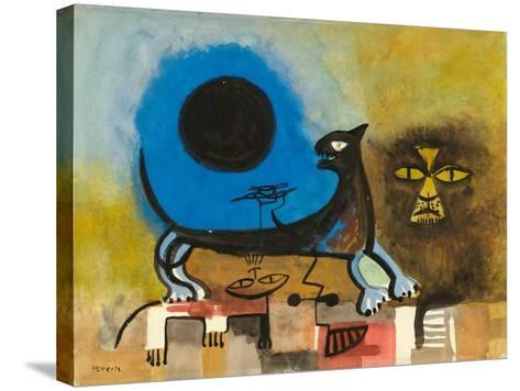 Cats at Night-Anneliese Everts-Stretched Canvas Print