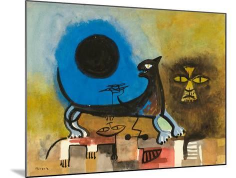 Cats at Night-Anneliese Everts-Mounted Giclee Print