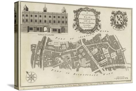 Map of Lime Street Ward, London--Stretched Canvas Print