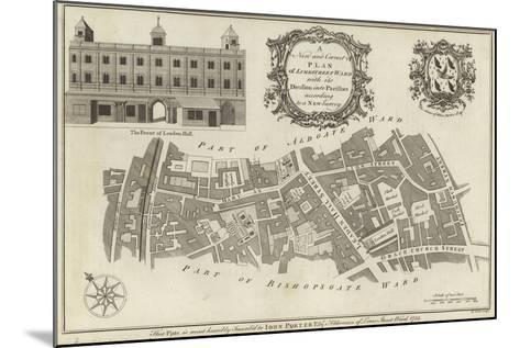 Map of Lime Street Ward, London--Mounted Giclee Print