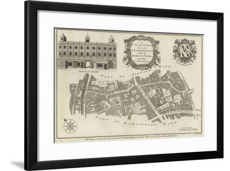 Map of Lime Street Ward, London--Framed Art Print