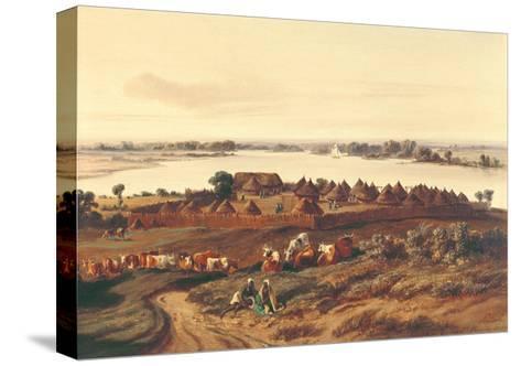 Village in Senegal-Edouard Auguste Nousveaux-Stretched Canvas Print