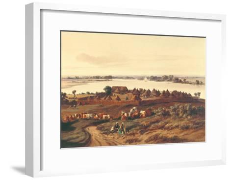 Village in Senegal-Edouard Auguste Nousveaux-Framed Art Print