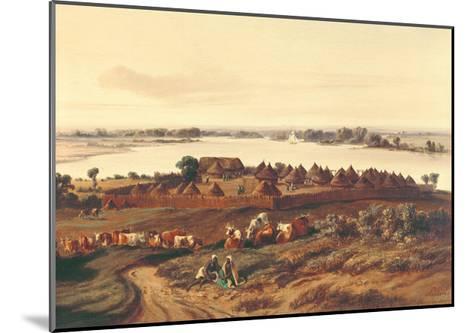 Village in Senegal-Edouard Auguste Nousveaux-Mounted Giclee Print
