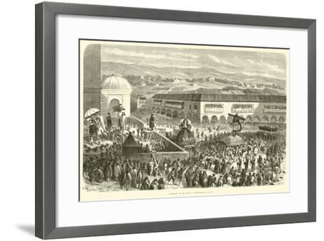 Procession of the Lord of Earthquakes at Cuzco-?douard Riou-Framed Art Print
