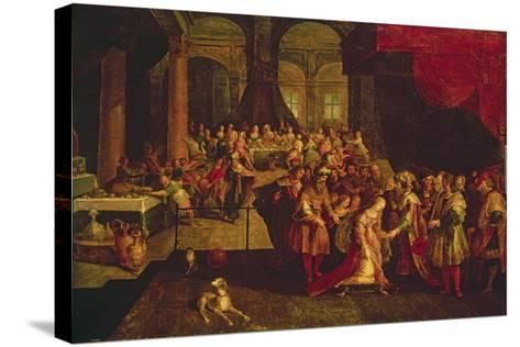 King Ahasuerus Crowns Esther-Frans Francken the Younger-Stretched Canvas Print