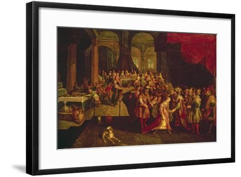 King Ahasuerus Crowns Esther-Frans Francken the Younger-Framed Art Print