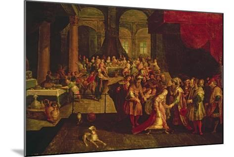 King Ahasuerus Crowns Esther-Frans Francken the Younger-Mounted Giclee Print