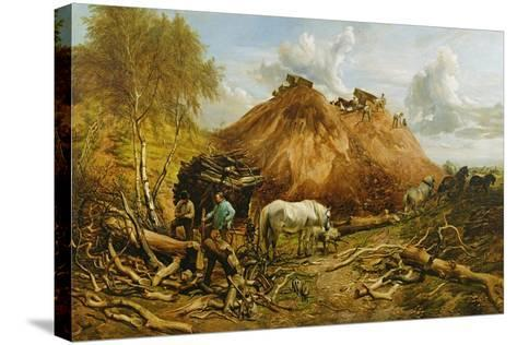 Clearing the Wood for the Iron Way, 1880-Thomas Sidney Cooper-Stretched Canvas Print