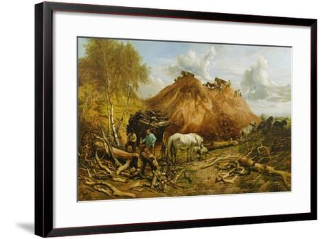 Clearing the Wood for the Iron Way, 1880-Thomas Sidney Cooper-Framed Art Print